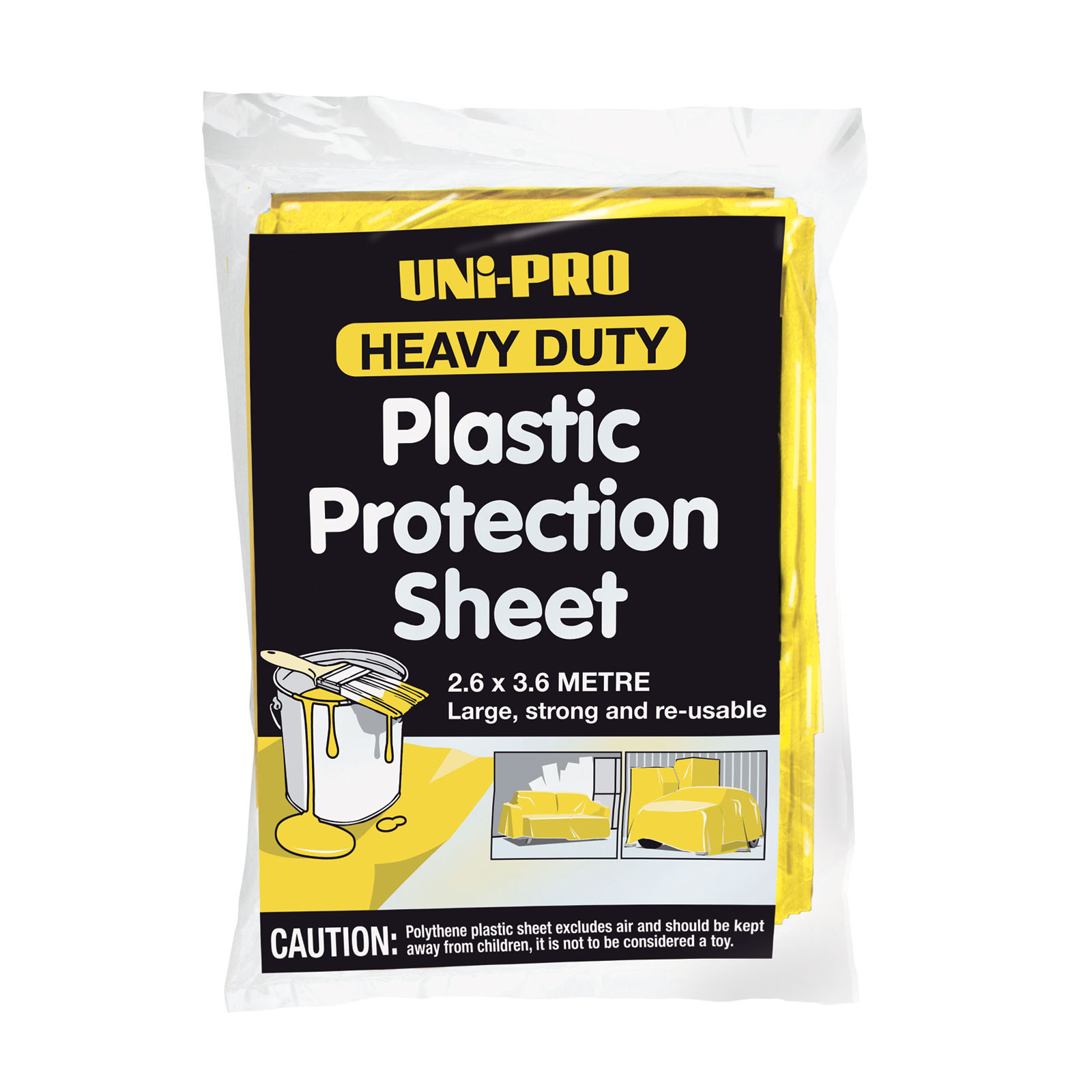 UNi-PRO Plastic Protection Sheet H/Duty Blue