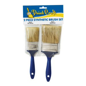 Paint Craft 2 Piece Synthetic Brush Set (50mm & 75mm)