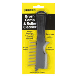 Brush Comb with Wooden Handle for Synthetic Brushes