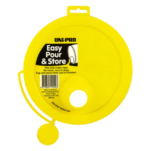 UNi-PRO No Drip Paint Pourer (With Cap Seal) yellow