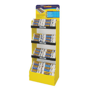 UNi-PRO 4 Tier Merchandiser Display Stand (Yellow)