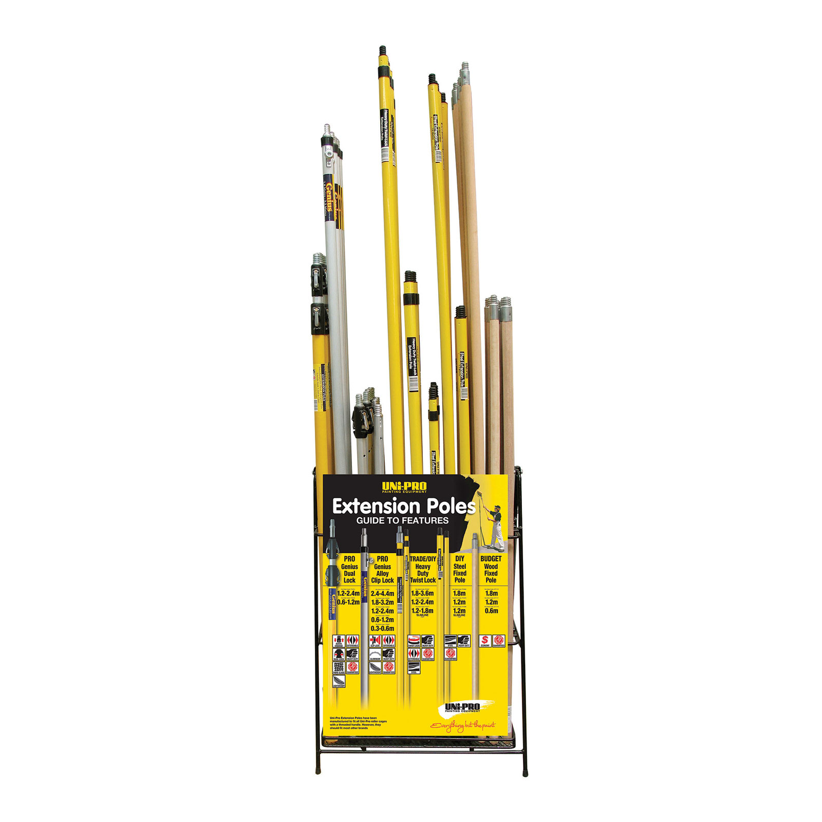 UNi-PRO Roller Pole Wire Display Stand