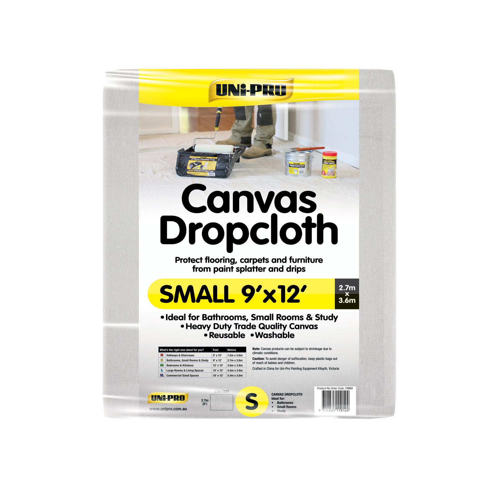 UNi-PRO Heavy Duty Canvas Dropcloth Range
