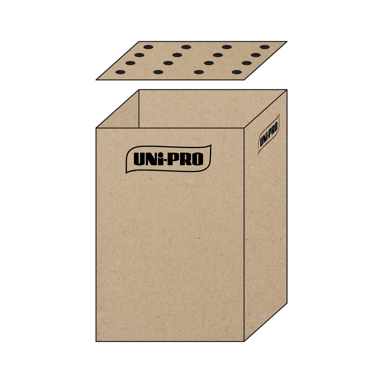 UNi-PRO 2-In-1 Dump Bin and 16 Pole Display Carton