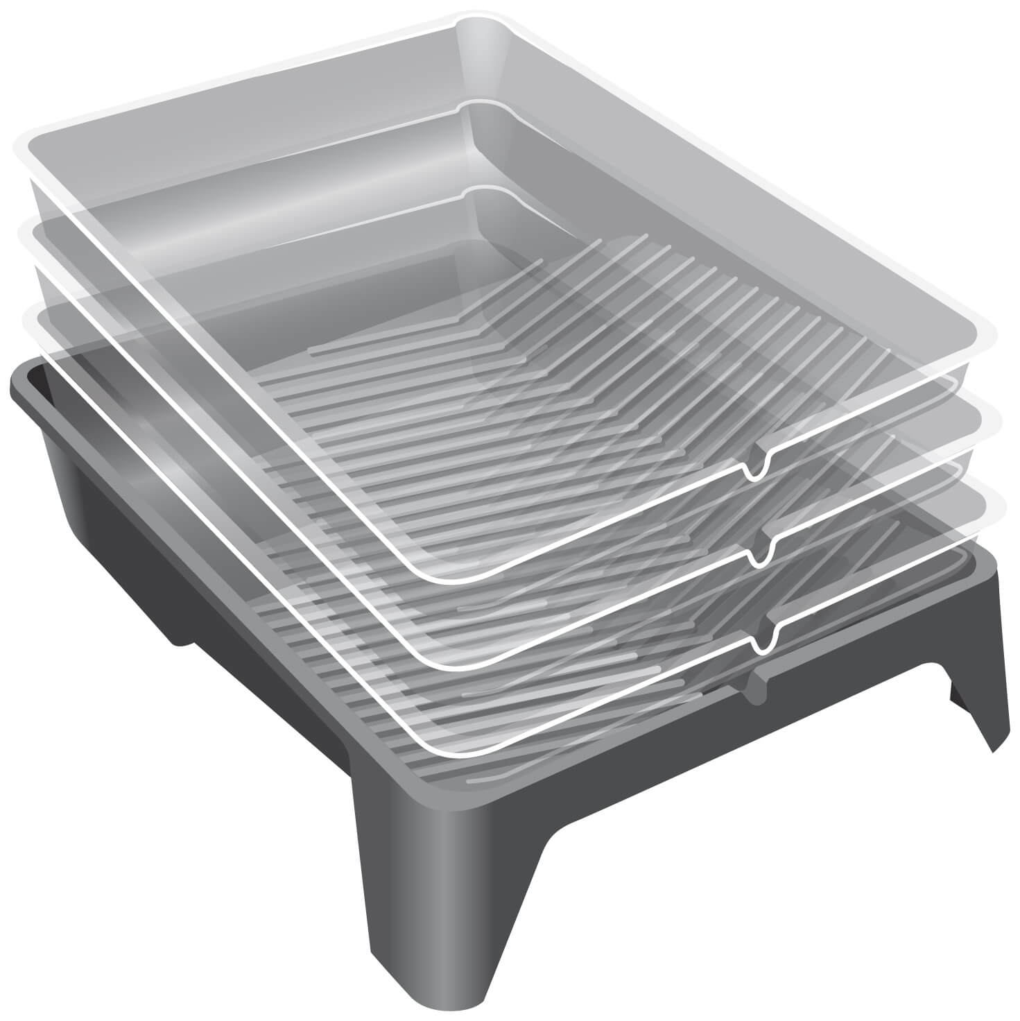 UNi-PRO 270mm Disposable Paint Tray Liners - 100 Pack