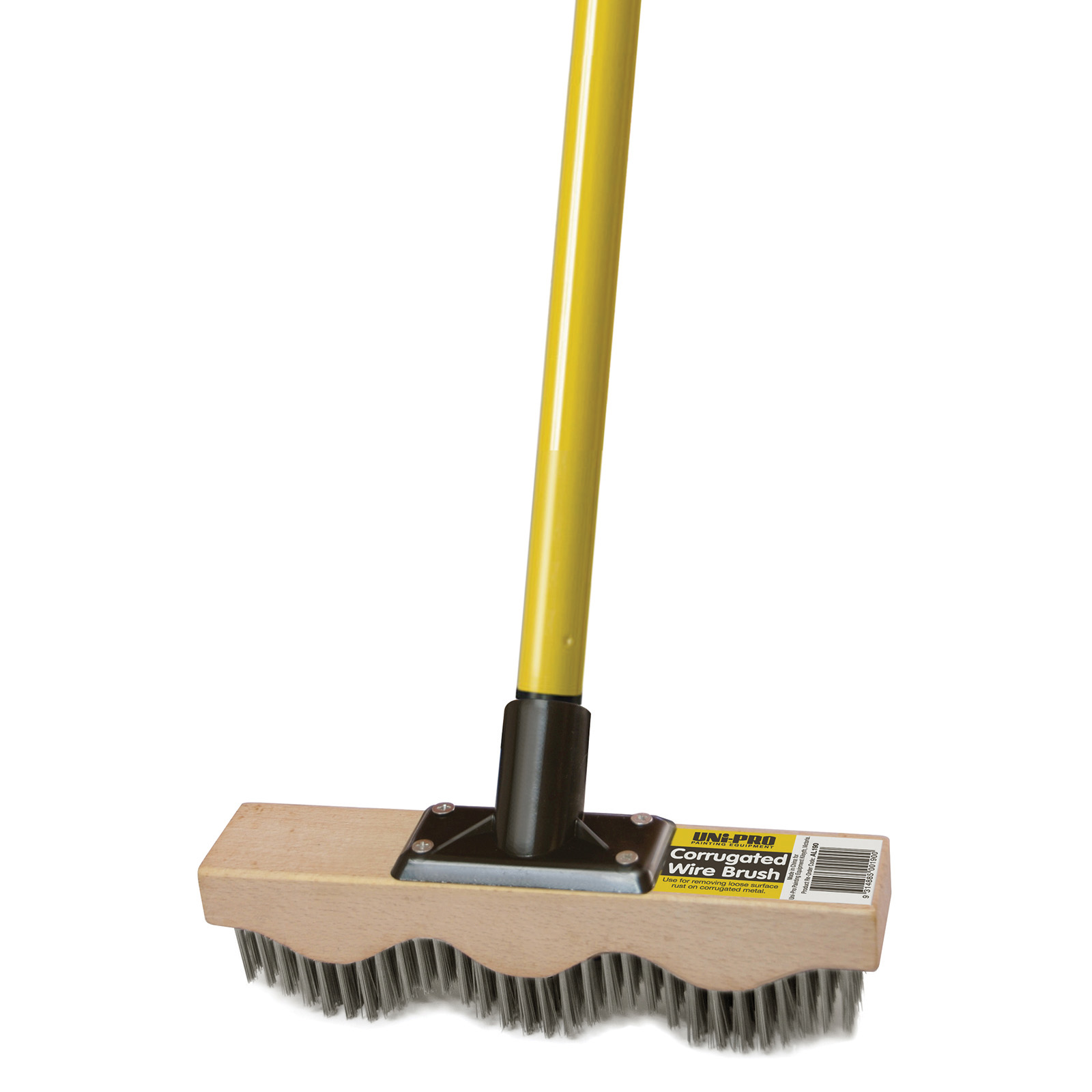 UNi-PRO Corrugated Wire Brush With Pole