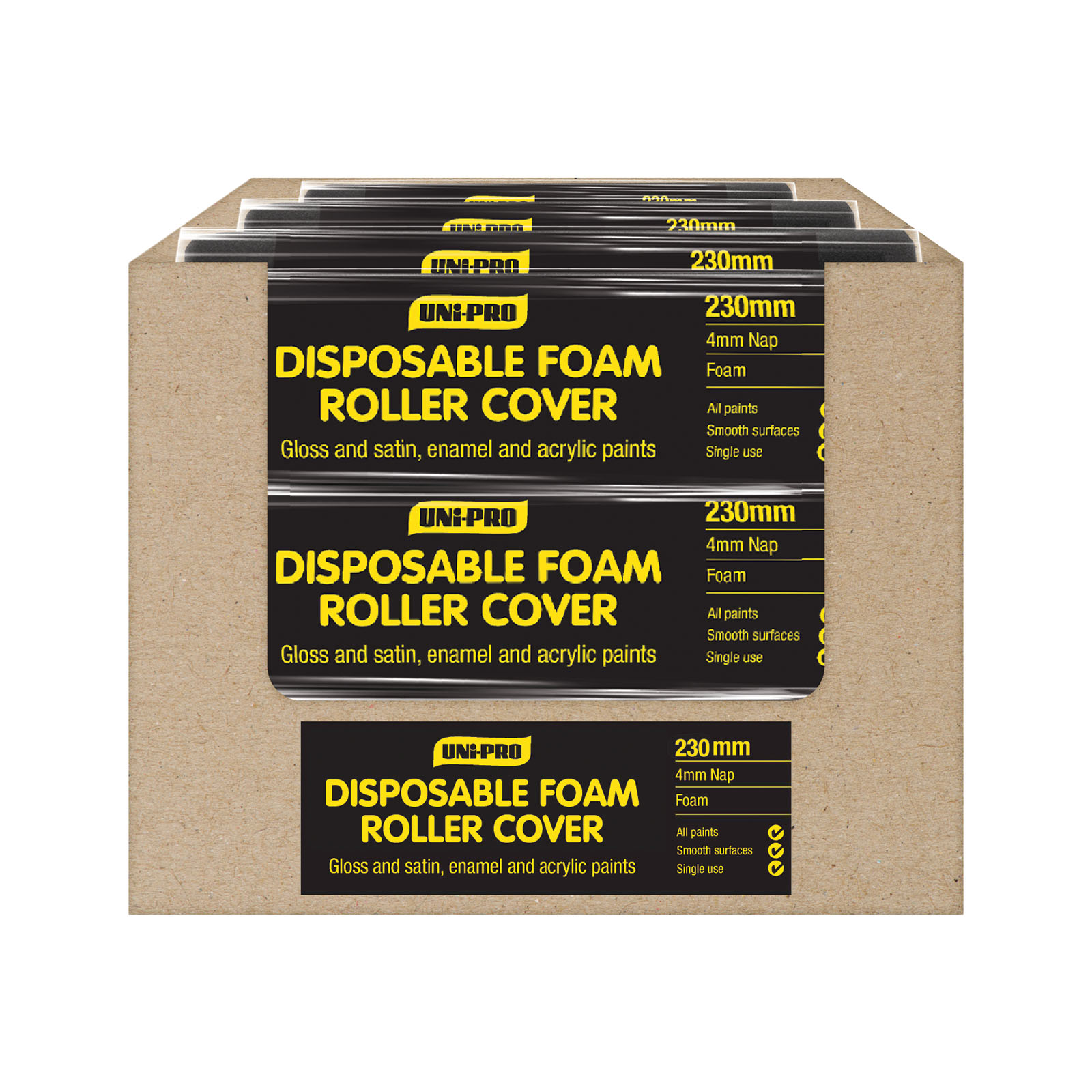 UNi-PRO Disposable Foam Roller Covers - 5mm Nap