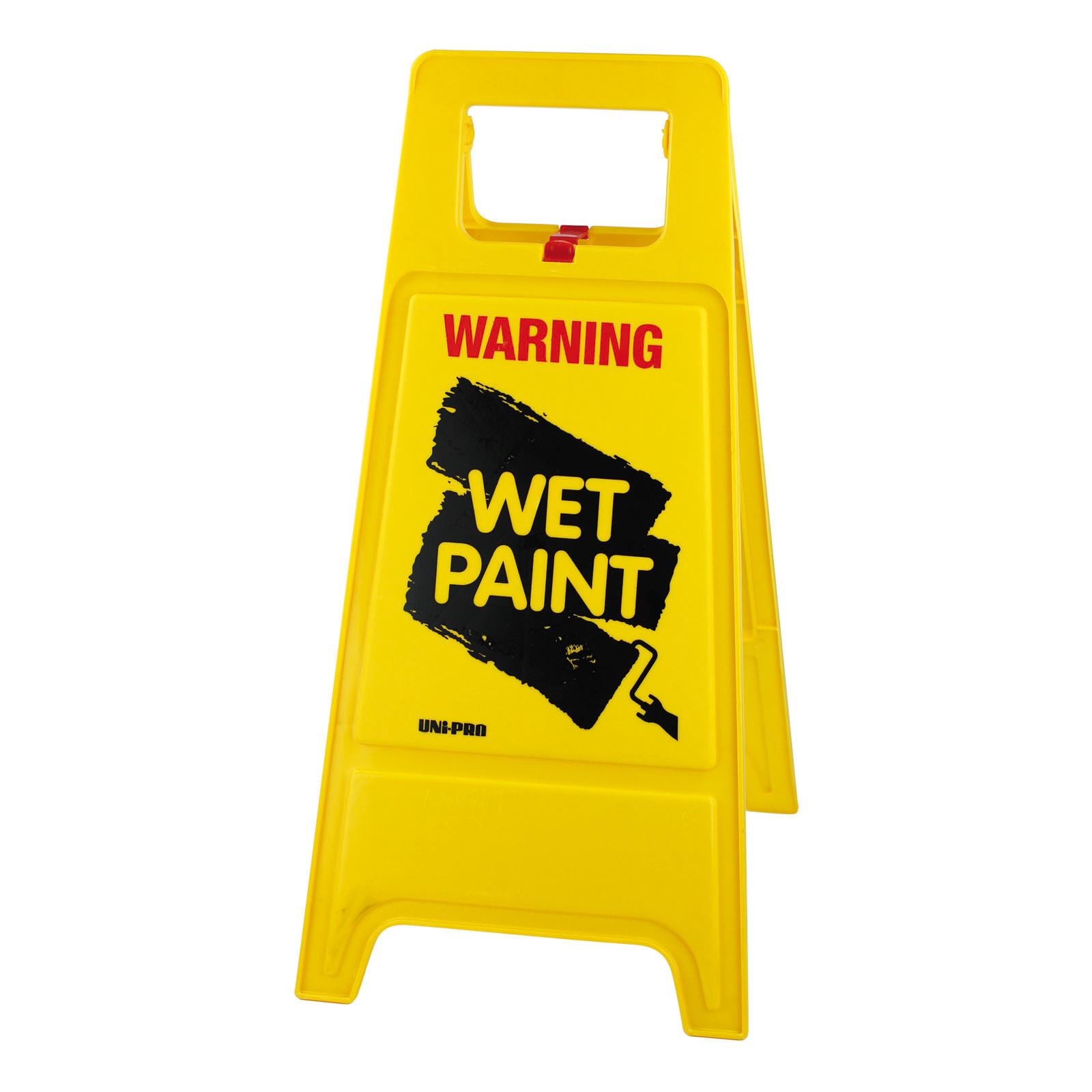 """UNi-PRO """"WET PAINT"""" Warning Sign"""