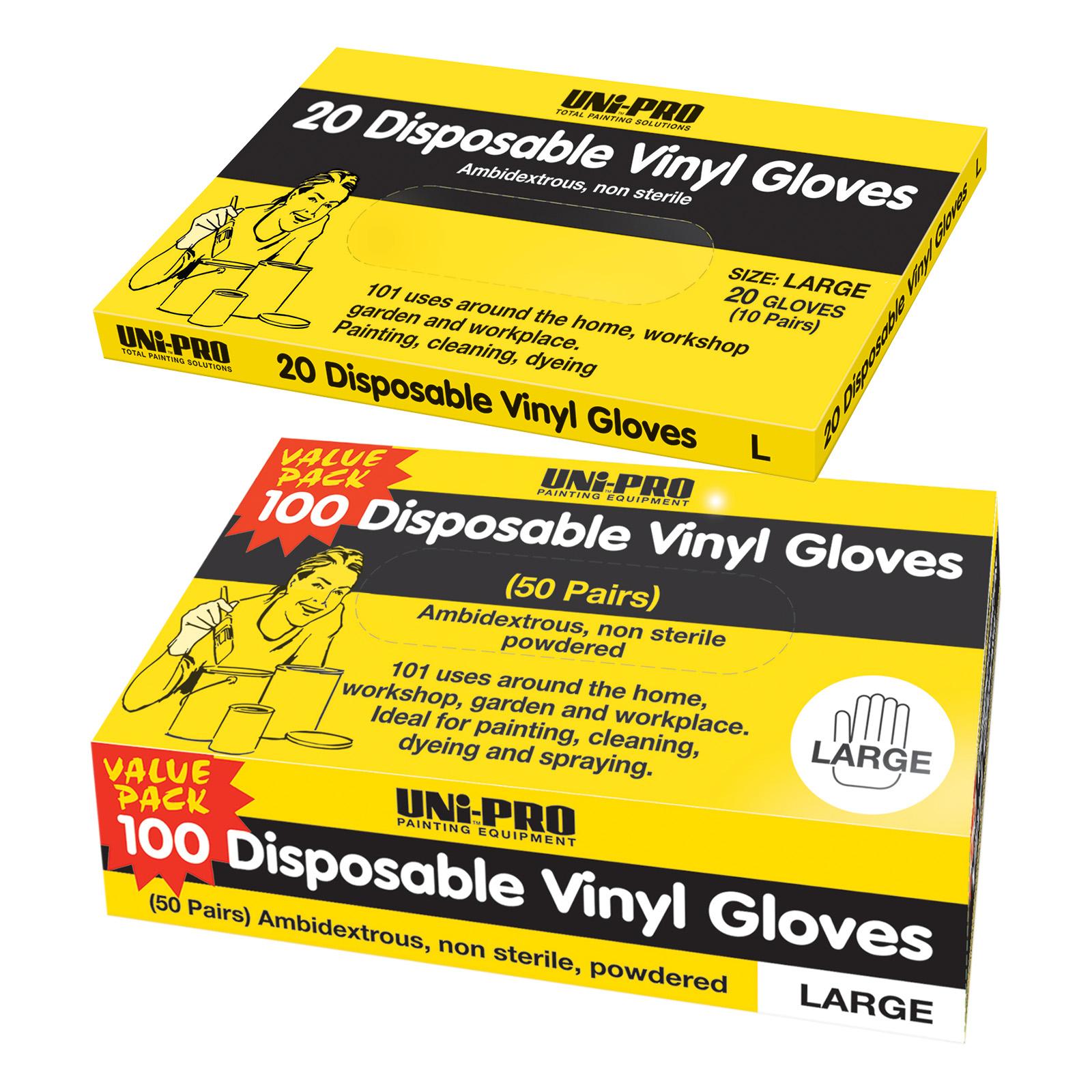 UNi-PRO Vinyl Gloves - Disposable