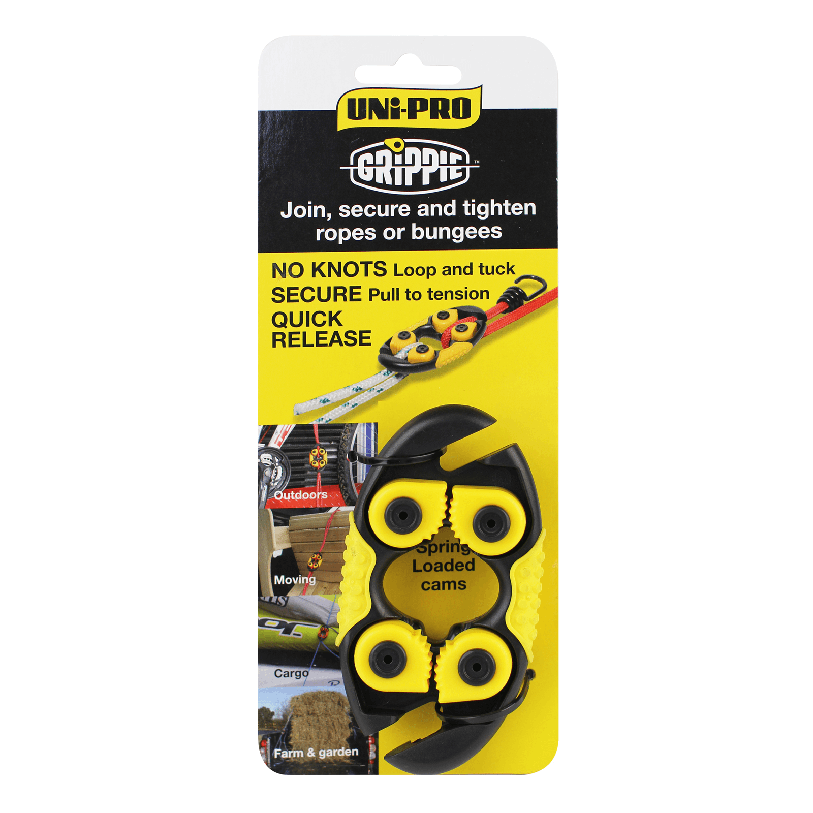 UNi-PRO Grippie Rope and Bungee Fastening System