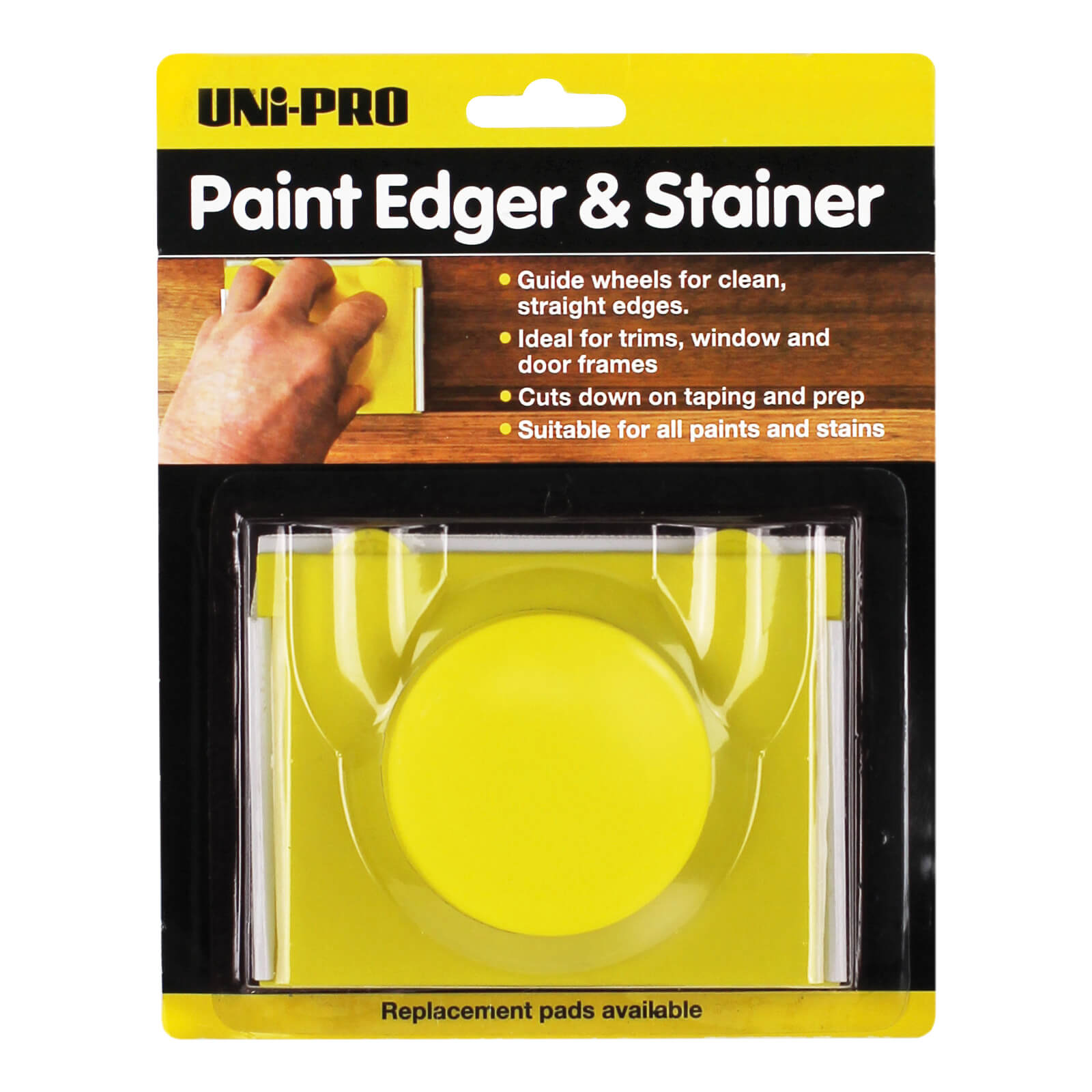 UNi-PRO Paint Pad Edger - with Adjustable Wheels