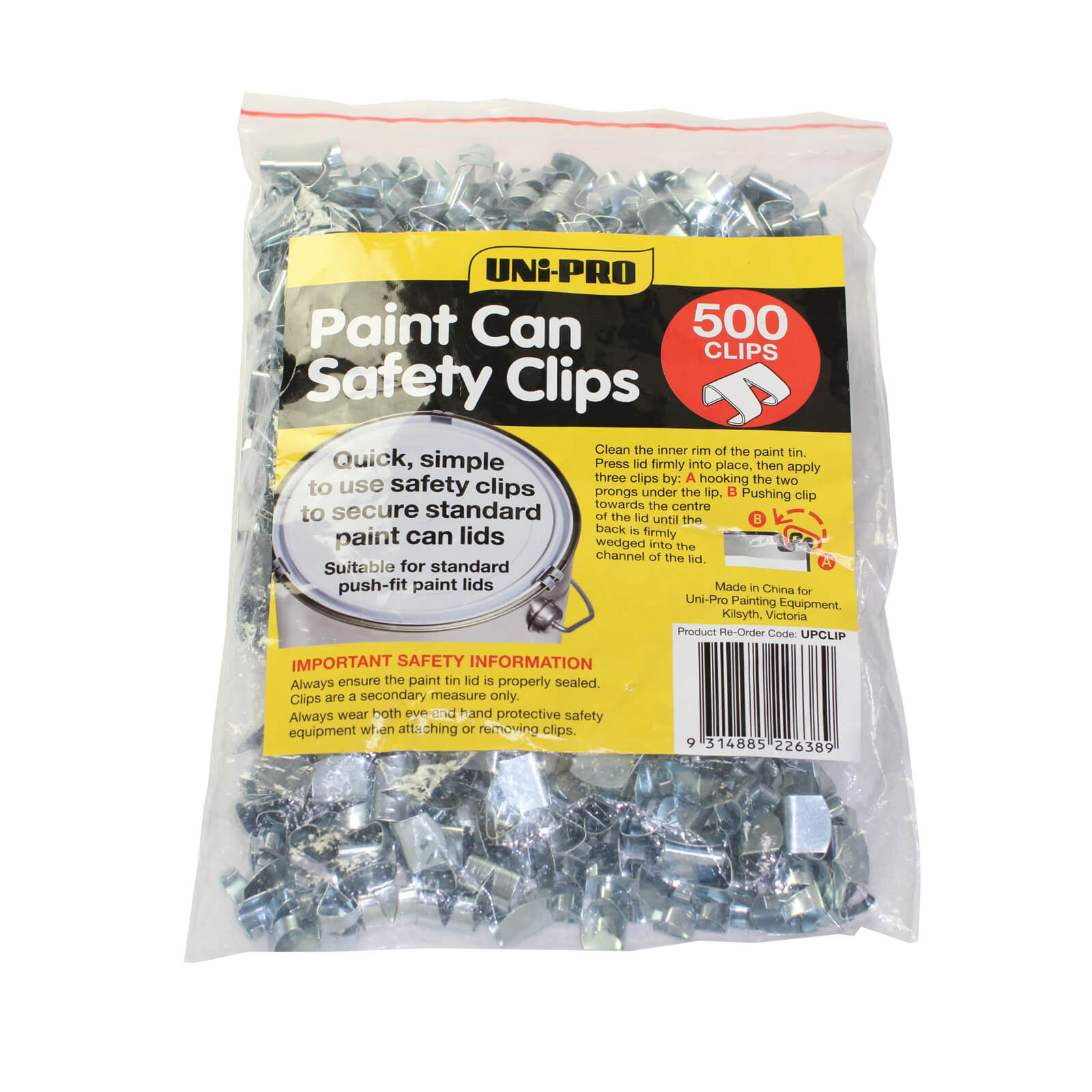 UNi-PRO Paint Can Safety Clips