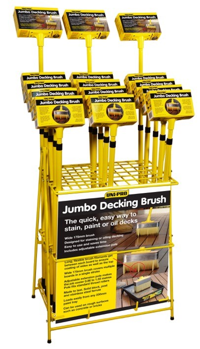 UNi-PRO Jumbo Deck and Stain Brush - with or without Adjustable Pole
