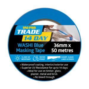 UNi-PRO Trade 14 Day Blue Washi Masking Tape Range